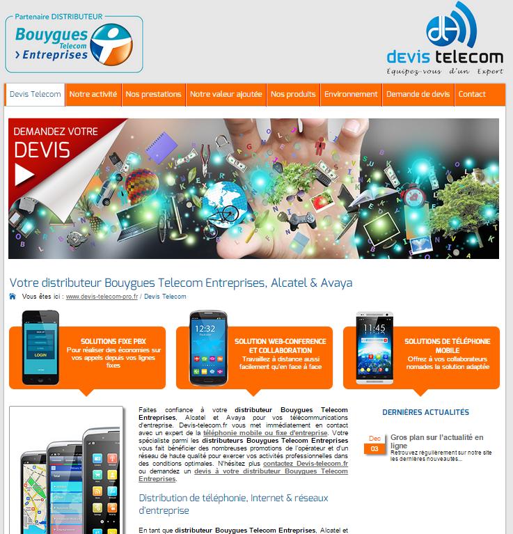 Administration et gestion de projet de la refonte de devis-telecom-pro.fr