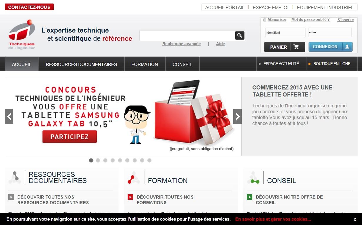 """Intégration et rédaction de contenus """"High tech"""" sur techniques-ingenieur.fr"""